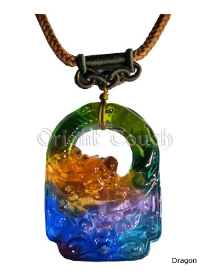 Colored Glaze Necklace - Zodiac