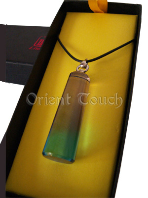 Colored Glaze Necklace - Pillar