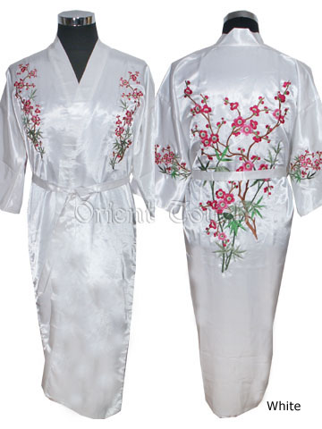 Women's Long Robe - Plum Blossom