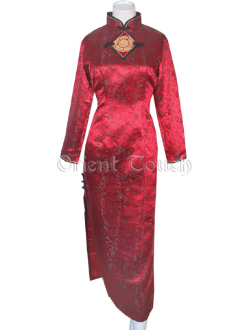Female Uniform - Dragon Brocade Long-Sleeved Cheongsam